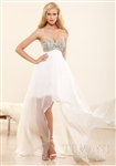 Terani P3140 Sweetheart Sheer Jewel Dress Colors: Ivory Sizes 2