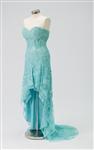 Jovani 79037 Lace Corset High-Low Mother of Bride Dress Colors: Black/Silver, 2, 8 Aqua, size 6 Blush Sizes 8