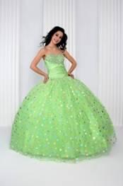 Anjali Prom Polka Dot Green sz 4