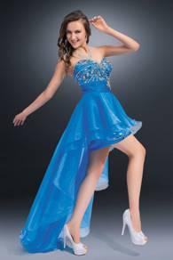 2 Cute Prom dress High-Low Blue sz 16