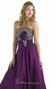 Karishma Prom Beaded Ruch Purple sz 0
